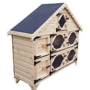 6ft Double Deluxe Rabbit Hutch
