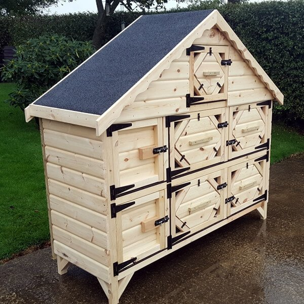 6ft Double Deluxe Rabbit Hutch with Night Shutters