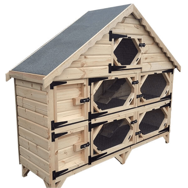 7ft Double Deluxe Rabbit Hutch