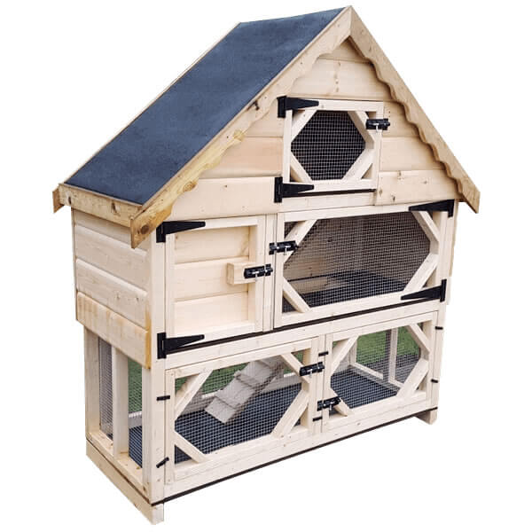 Deluxe Guinea Pig Hutch with Run Underneath