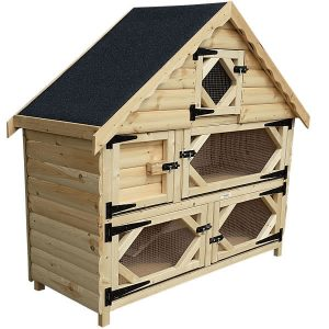 Double Deluxe Rabbit Hutch