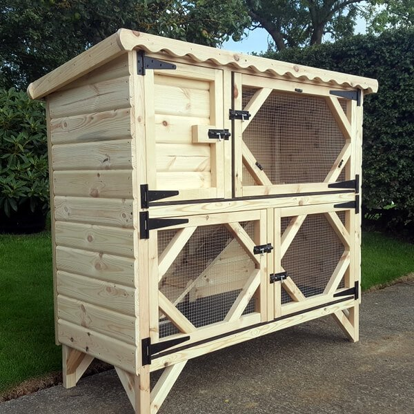 Double Rabbit Hutch Extra Tall