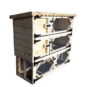 Double Rabbit Hutch with Run Underneath