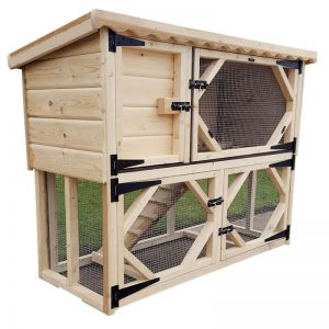 Guinea Pig Hutch with Run Underneath