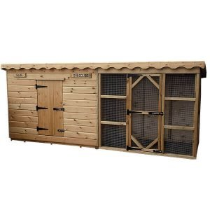 Rabbit Shed with Run