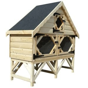 Single Deluxe Rabbit Hutch