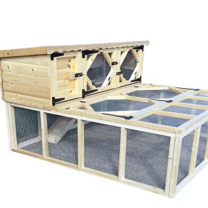 Single Rabbit Hutch with Run