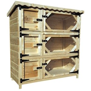 Triple Rabbit Hutch 6ft Tall